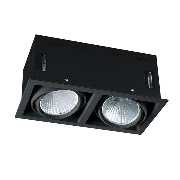 CLE LED Kardan Einbauleuchte YK2 mit Fortimo Philips SLM LED Modul 2x 3600lm 2x 28W schwarz – Bild 1