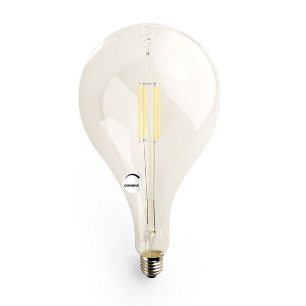 Gaga Lamp LED Steam Punk Bulb klar Carbon Filament Hängeleuchte Textilkabel grau E27 Fassung Bild 4