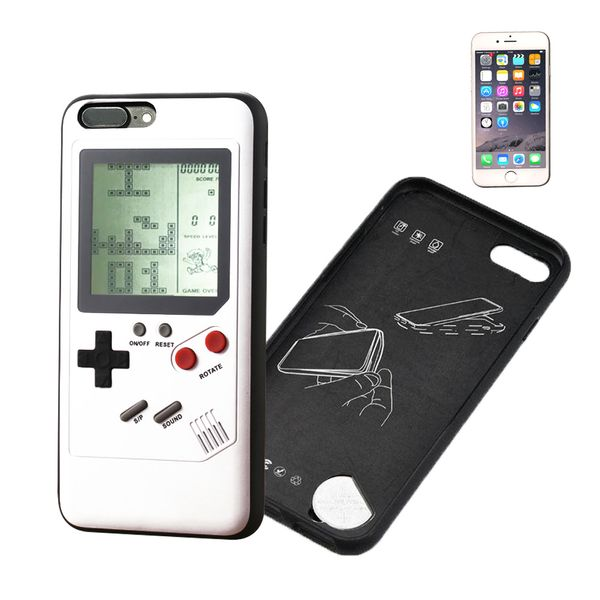 Retro Game Case Schutzhülle für iPhone 6/6S Plus weiß echte Spielekonsole