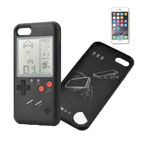 Retro Game Case Schutzhülle für iPhone 7/8 schwarz echte Spielekonsole
