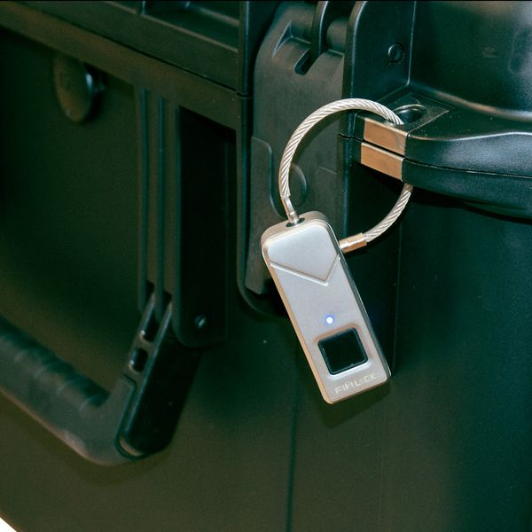 Schloss mit Fingerabdrucksensor Padlock Smart Keyless Lock Wasserdicht aqua – Bild 3