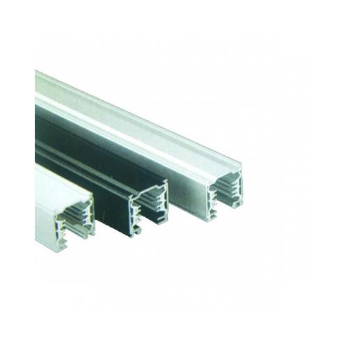 Profi 3 Phasen Stromschienenset 2m mit 3 Strahlern 45 Grad schwarz 3400lm inkl. Reflektor, Adapter – Bild 2