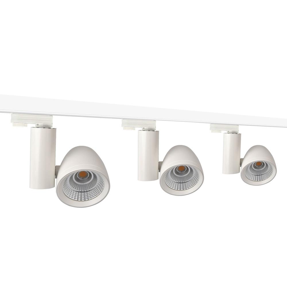 Philips 3 Phasen Stromschienenset 2m 3 Strahlern 45 Grad weiß 3600lm inkl. Reflektor, Adapter