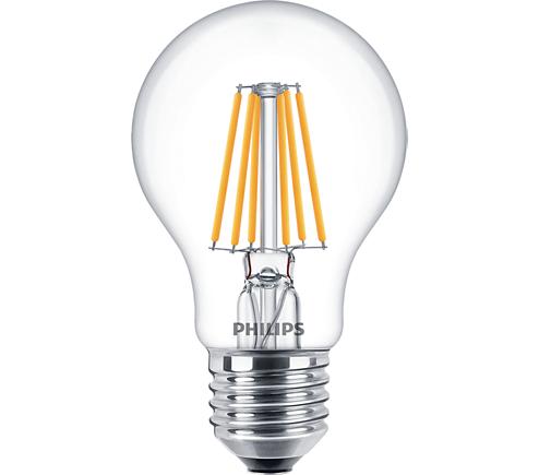 Philips Classic LEDbulb 8W A60 E27 827 klar FIL DimTone Ersatz für 60W Glühlampe