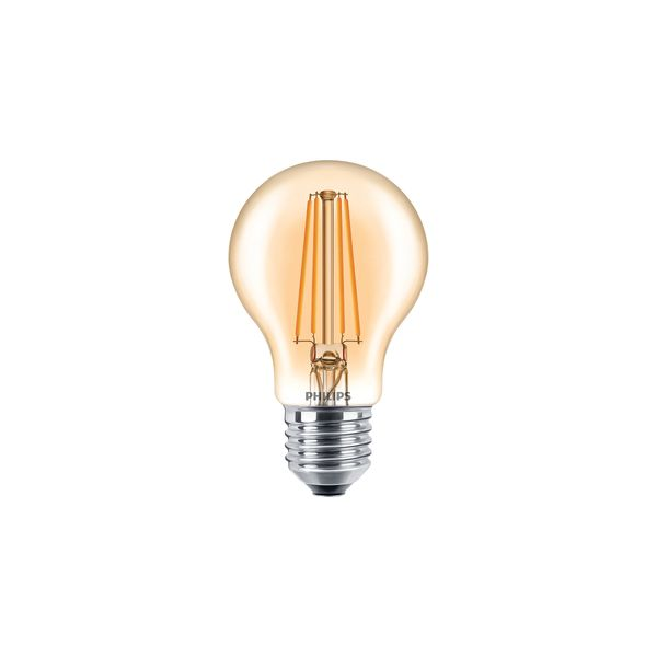 Philips Classic LEDbulb 7,5W E27 820 A60 gold FIL DIM Ersatz für 48W Glühlampe