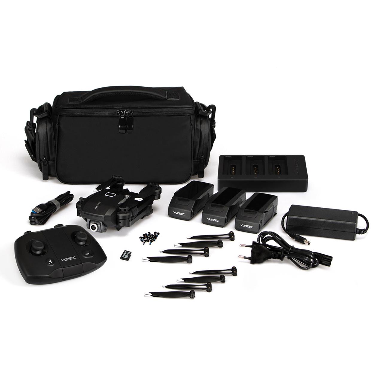 YUNEEC Mantis Q X Pack Faltbare 4K RTF Reisedrohne, Quadrokopter mit Sprachsteuerung