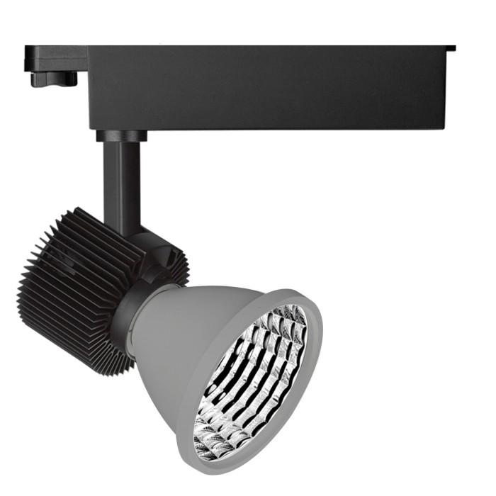 CLE Schienenstrahler SHUTTLE Philips FORTIMO LED SLM 3600lm alugrau inkl. Adapter, Reflektor, Modul, Treiber
