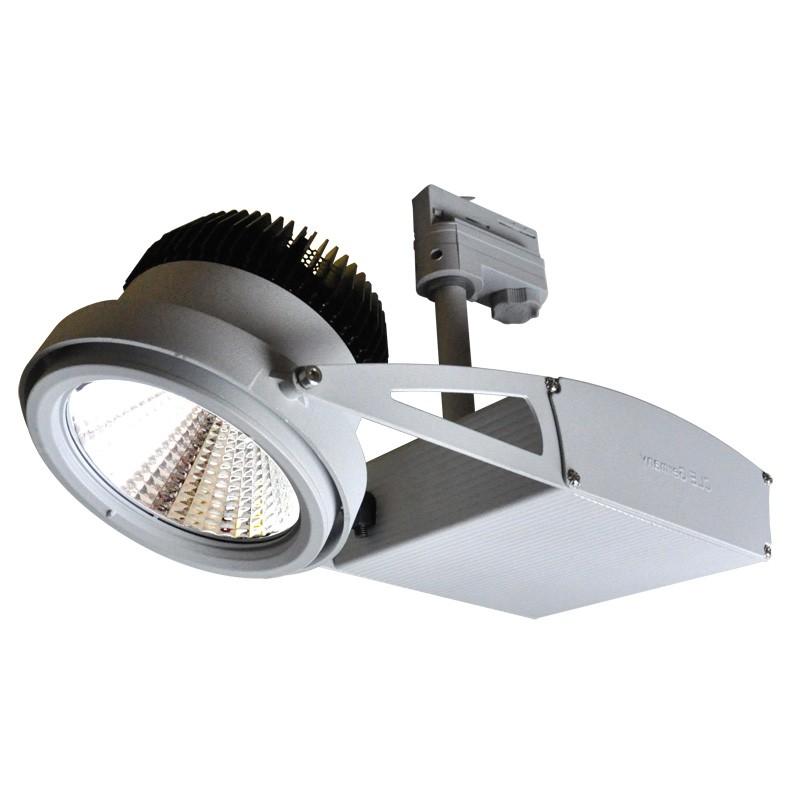 CLE Schienenstrahler ST55 60 Grad für Philips FORTIMO LED SLM 3600lm alu grau inkl. Adapter, Modul, Treiber