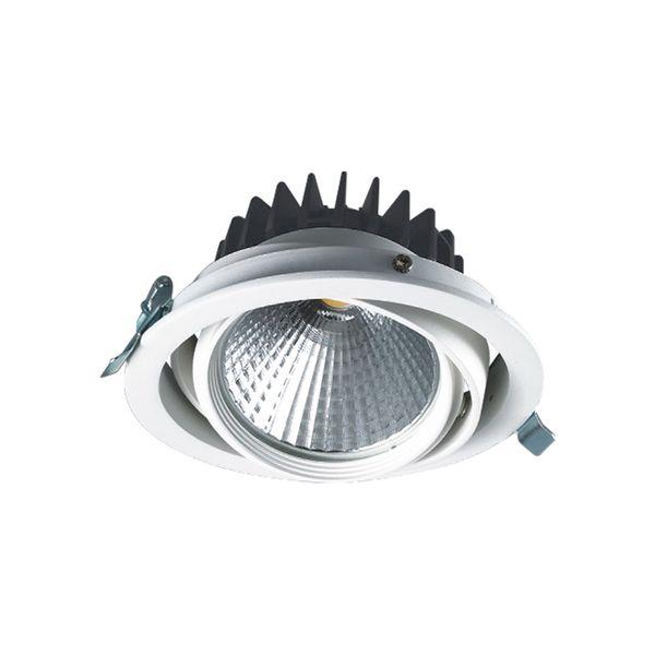 CLE LED Kardan Einbauleuchte YK1 weiß mit Fortimo LED SLM Modul 3600lm und Treiber