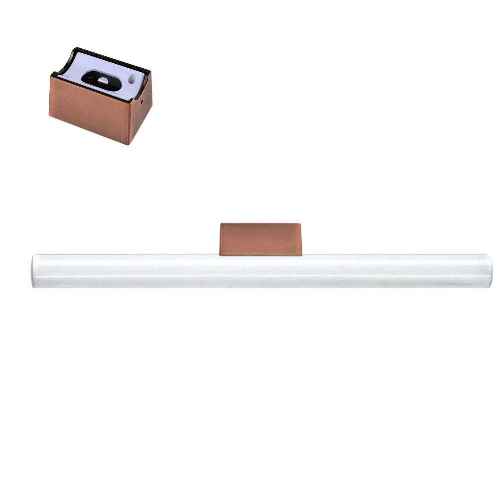 Cle linestra spiegel wandleuchte kupfer inkl led for Spiegel kupfer