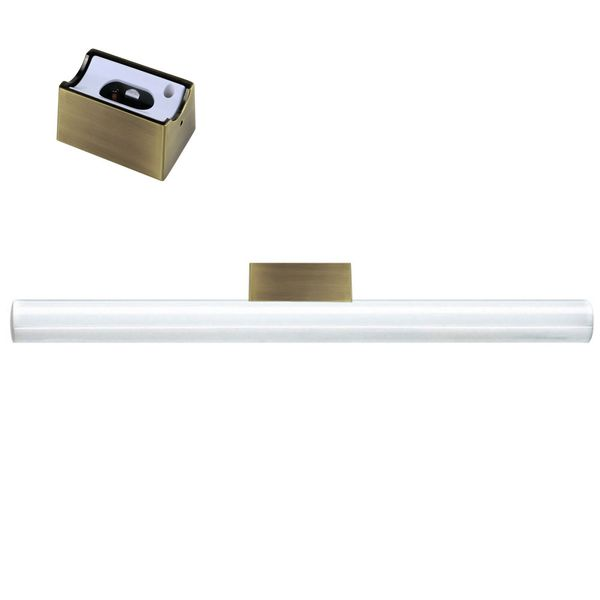 CLE Linestra Spiegel-/Wandleuchte Messing Matt inkl. LED Linienlampe 9W 700lm 500mm
