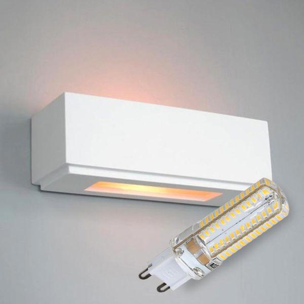 LED Gips Wandleuchte Takerwai inkl. Leuchtmittel 6W 510lm G9 neutralweiß 4000-4500K
