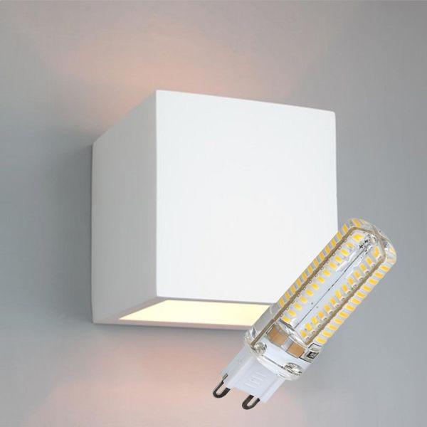 LED Gips Wandleuchte Wulde inkl. Leuchtmittel 6W 510lm G9 neutralweiß 4000-4500K