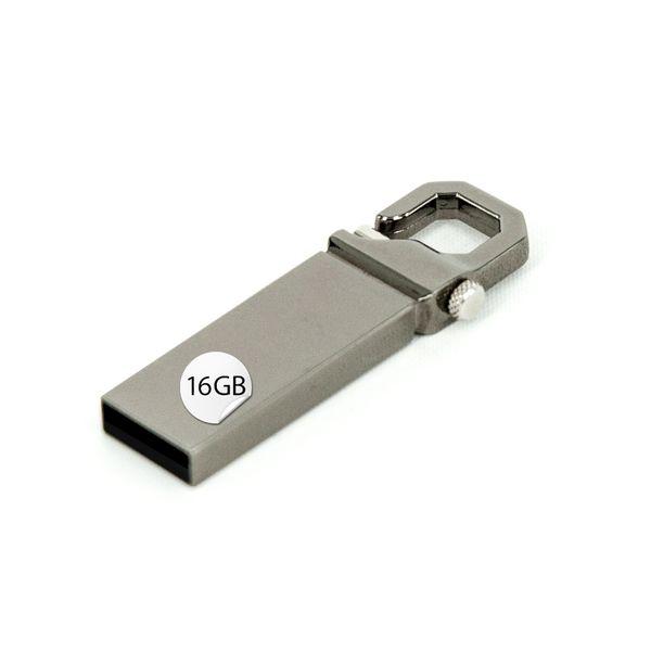 GADGET 16GB USB Stick Karabiner Silber – Bild 1