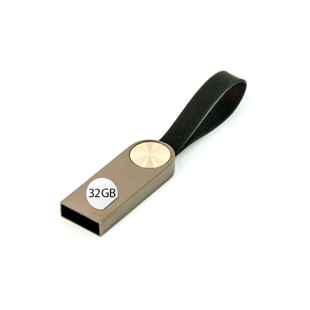 GADGET 32GB USB Stick Mini Metall mit Schlaufe Silber