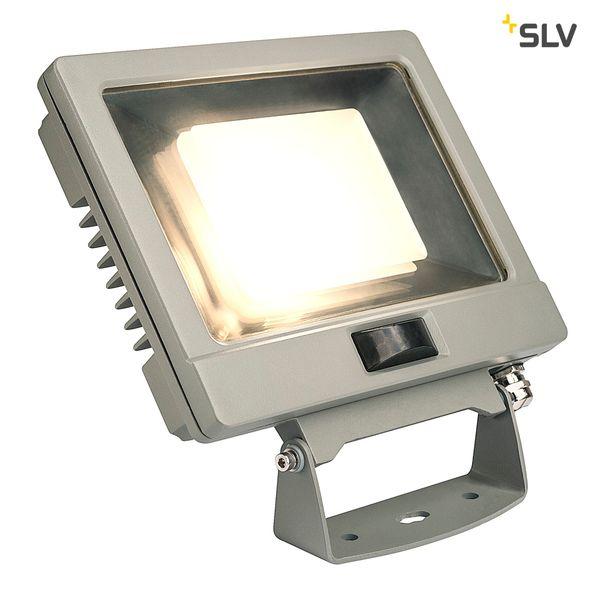 SLV SPOODI SENSOR, LED Outdoor Wandaufbauleuchte, 30W, silbergrau, 3000K