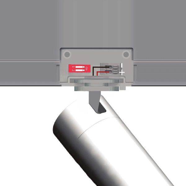 LED 3 Phasen Stromschienen Adapter inkl. Treiber 500-700mA 30-40V 28W 230V weiß DIP Switch Trafo Netzteil Netzgerät Konstantstromtrafo – Bild 3