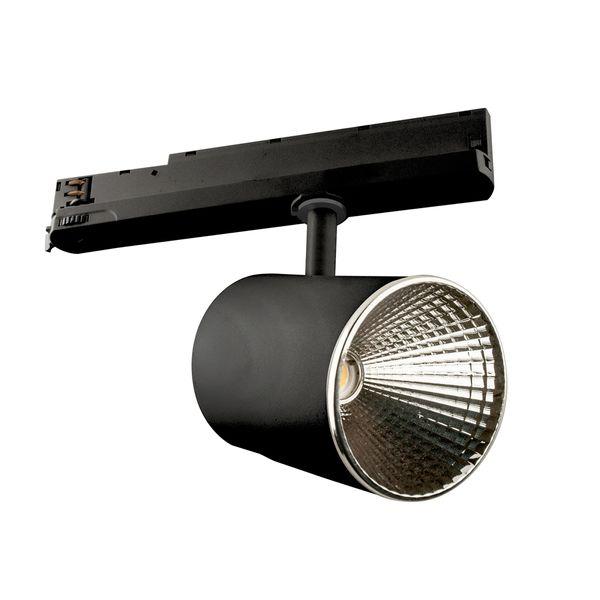 CLE LED 3 Ph Stromschienenstrahler ST174A Kopf schwarz inkl. FORTIMO SLM Modul 3600lm, Treiber, Adapter  – Bild 3