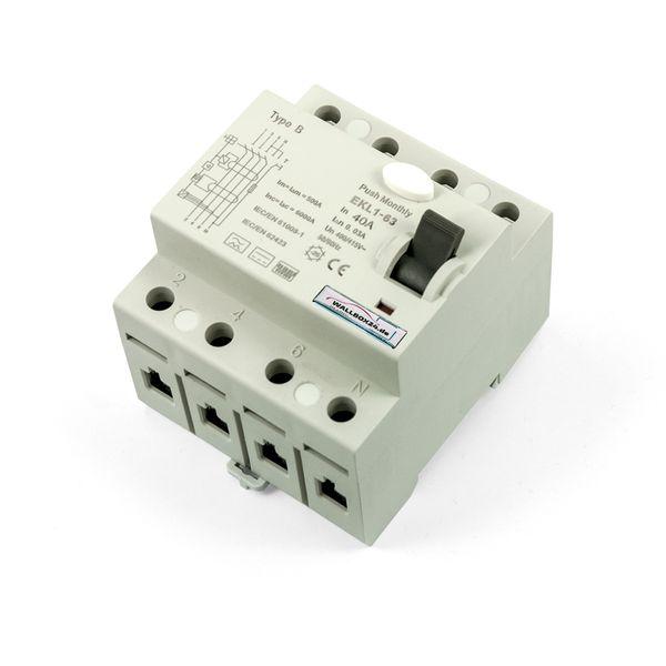 Wallbox24 FI Schutzschalter 4-pol. 63A RCCB Typ B für die Elektromobilität – Bild 2