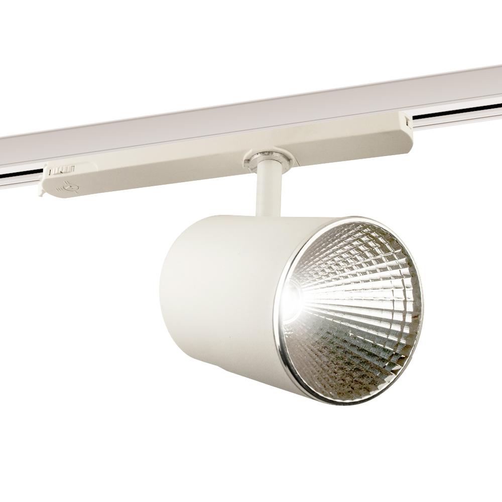 CLE LED 3 Ph Stromschienenstrahler ST174A Kopf weiss inkl. FORTIMO SLM Modul 3600lm, Treiber, Adapter