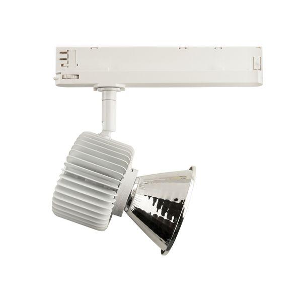 CLE LED 3 Ph Stromschienenstrahler ST007 Kopf weiss inkl. FORTIMO SLM Modul 3600lm, Treiber, Adapter  – Bild 5