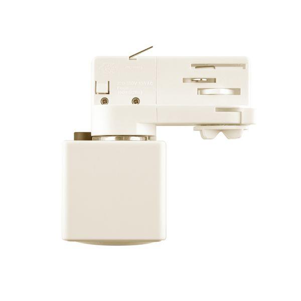 CLE Steckdose weiß für Stromschiene Staff Erco Hoffmeister Eutrac SLV Lival UNIPRO 3 Ph Adapter – Bild 4