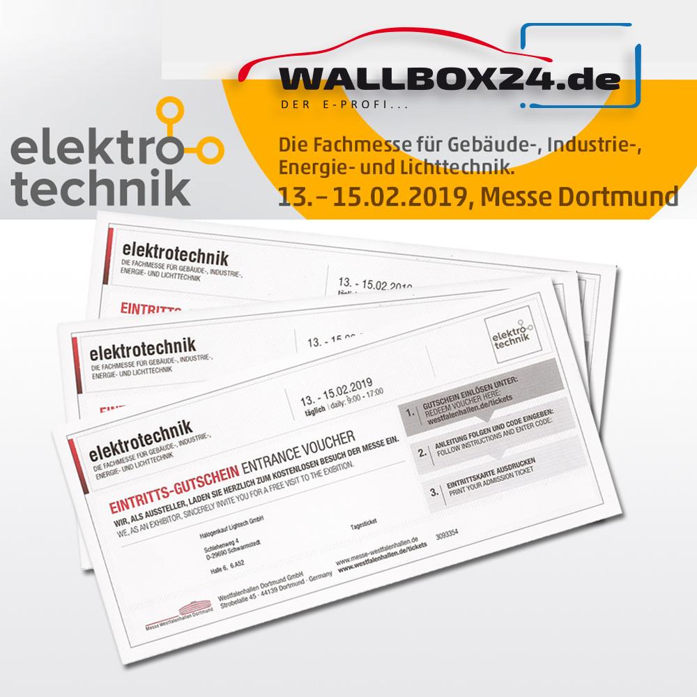 Gutschein Tagesticket elektrotechnik 2019 Dortmund