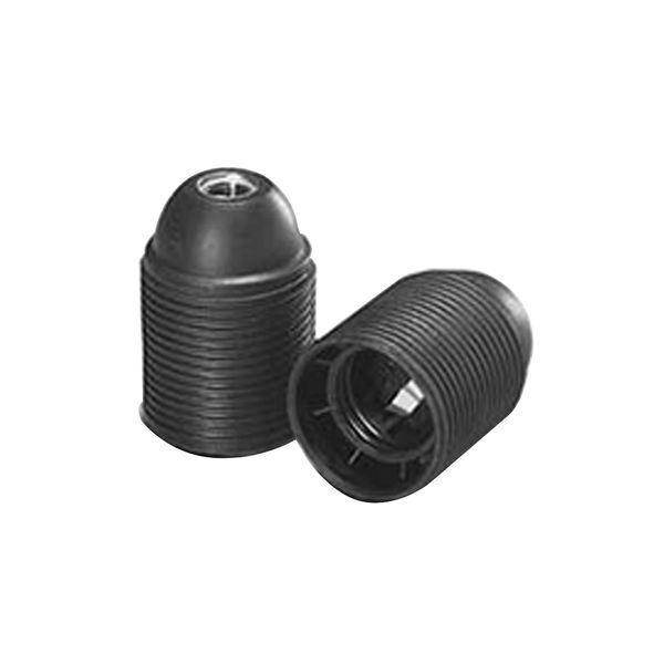 VOSSLOH Iso-Fassung E27 schwarz, Außengewindemantel, Thermoplast mit Nippelgewinde M10x1