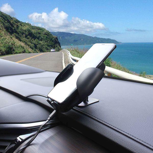 CLE Wireless Car Charger WH10 10W Silber Drahtloses Handyladegerät fürs Auto – Bild 8