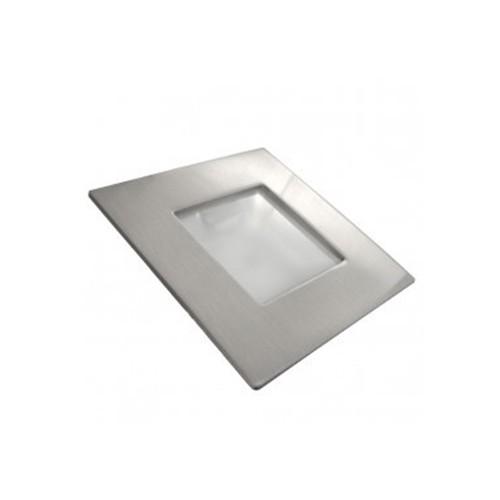 CLE LED Möbeleinbauleuchte Squareline Nickel mit LED 1,5W 12V 3000K Wandeinbauleuchte