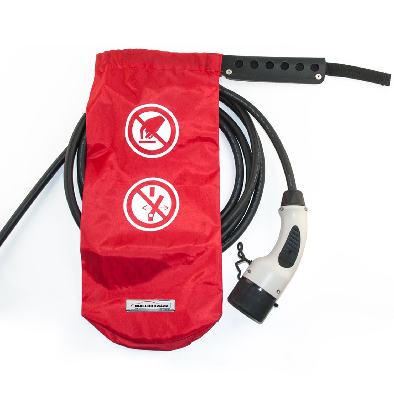 Wallbox24 Verschließbarer Schutzsack für Ladestecker Schutz vor unbefugter Nutzung