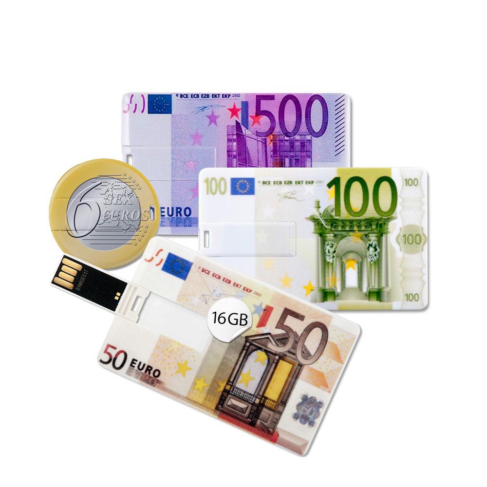 Euro Speicherset 4x 16GB Speicherkarten USB Scheckkartenformat 656 Euro