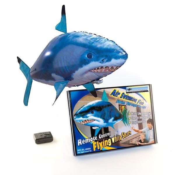 DS24 Fliegender Weißer Hai mit Fernbedienung Indoor Spaß für Kinder