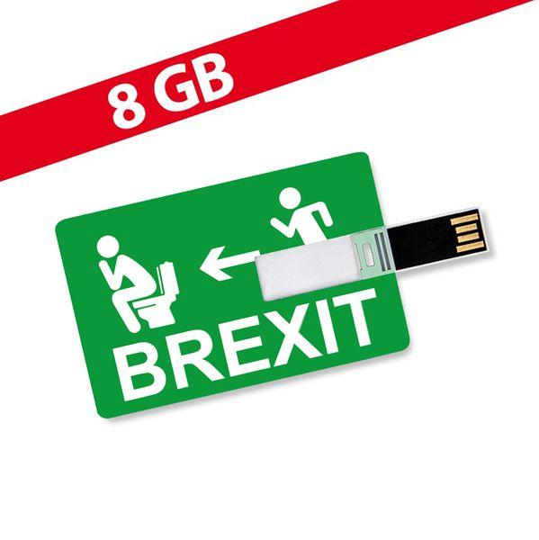 8GB Speicherkarte in Scheckkartenform BREXIT - USB Stick