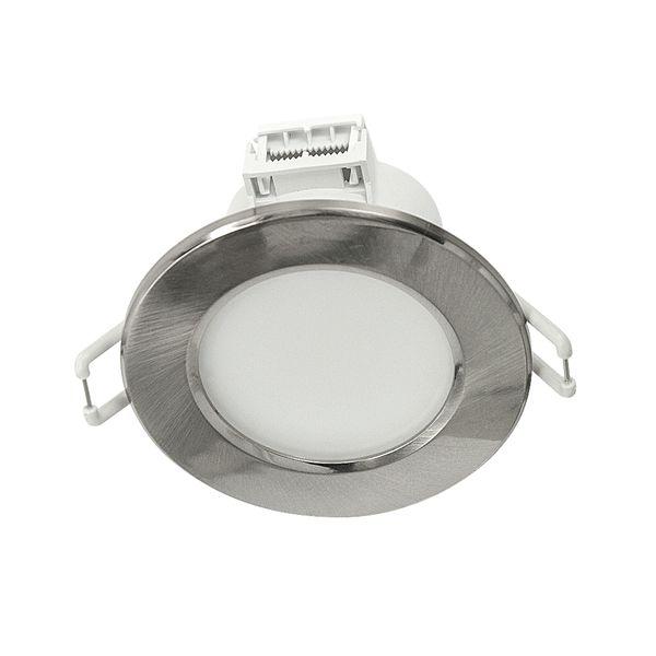 LED Einbaustrahler 230V 6W flach Einbauspot Einbauleuchte Variosystem weiß chrom