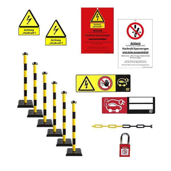 Wallbox24 Satz Kennzeichnung, Absperrungen und Verriegelungssysteme Sicherheit Hochvolt-Einsatz