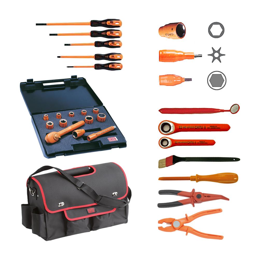 Wallbox24 Satz isolierter Werkzeuge für Arbeiten unter Spannung Sicherheit Hochvolt-Einsatz