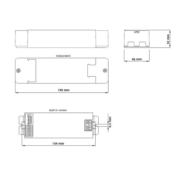 Philips Xitanium LED Driver 300-1000mA 62V 50W 230V TD/I DALI Trafo Netzteil Netzgerät Konstantstromtrafo – Bild 2