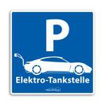 Wallbox24 Parkplatzaufkleber E-Fahrzeuge Nr. 2 selbstklebende Folie witterungsbeständig reflektierend Zubehör Elektromobilität