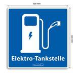 Wallbox24 Parkplatzaufkleber E-Fahrzeuge Nr. 3 selbstklebende Folie witterungsbeständig reflektierend Zubehör Elektromobilität