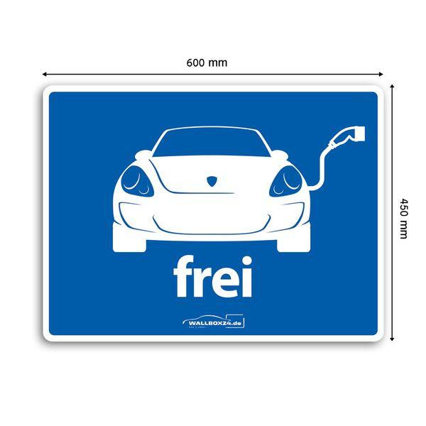 Wallbox24 Parkplatzaufkleber E-Fahrzeuge Nr. 6 selbstklebende Folie witterungsbeständig reflektierend Zubehör Elektromobilität