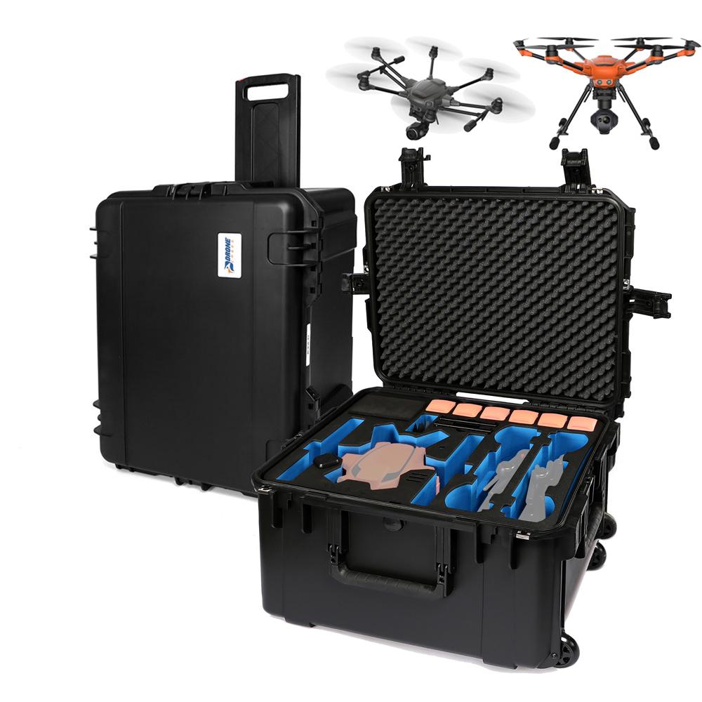 Yuneec H520 oder H Plus Transportkoffer Team Mode Platz für 2x Kamera, 2x ST16S Fernsteuerung, 6 Akkus und Zubehör