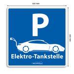 Wallbox24 Parkplatzschild E-Fahrzeuge Nr. 2 Aluminium witterungsbeständig reflektierend Zubehör Elektromobilität
