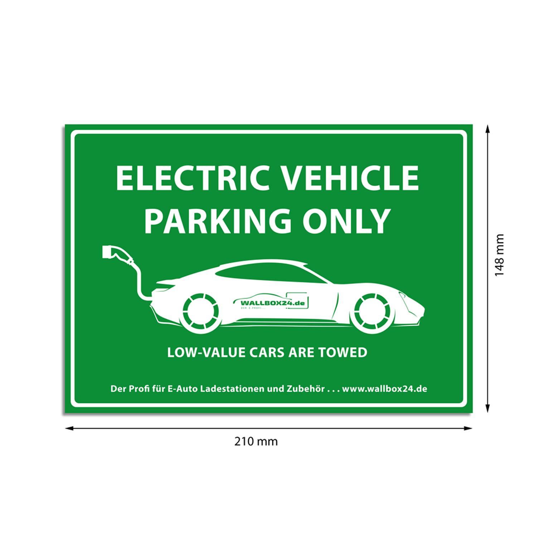 Wallbox24 Aufkleber Parkplatz E-Fahrzeuge Nr. 8 selbstklebende Folie Zubehör Elektromobilität