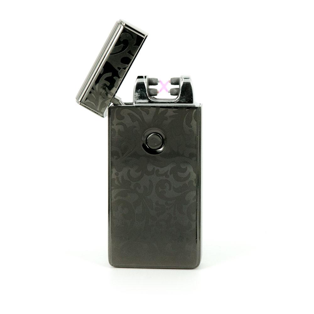 iProtect USB Lichtbogen Feuerzeug Lighter 70084 aufladbar inkl Ladekabel schwarz
