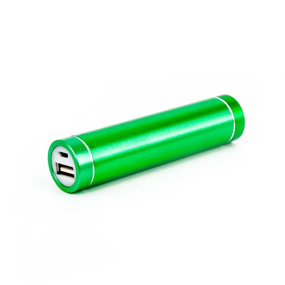 DS24 1200mAh PowerBank grün metallic inkl. Micro USB Kabel