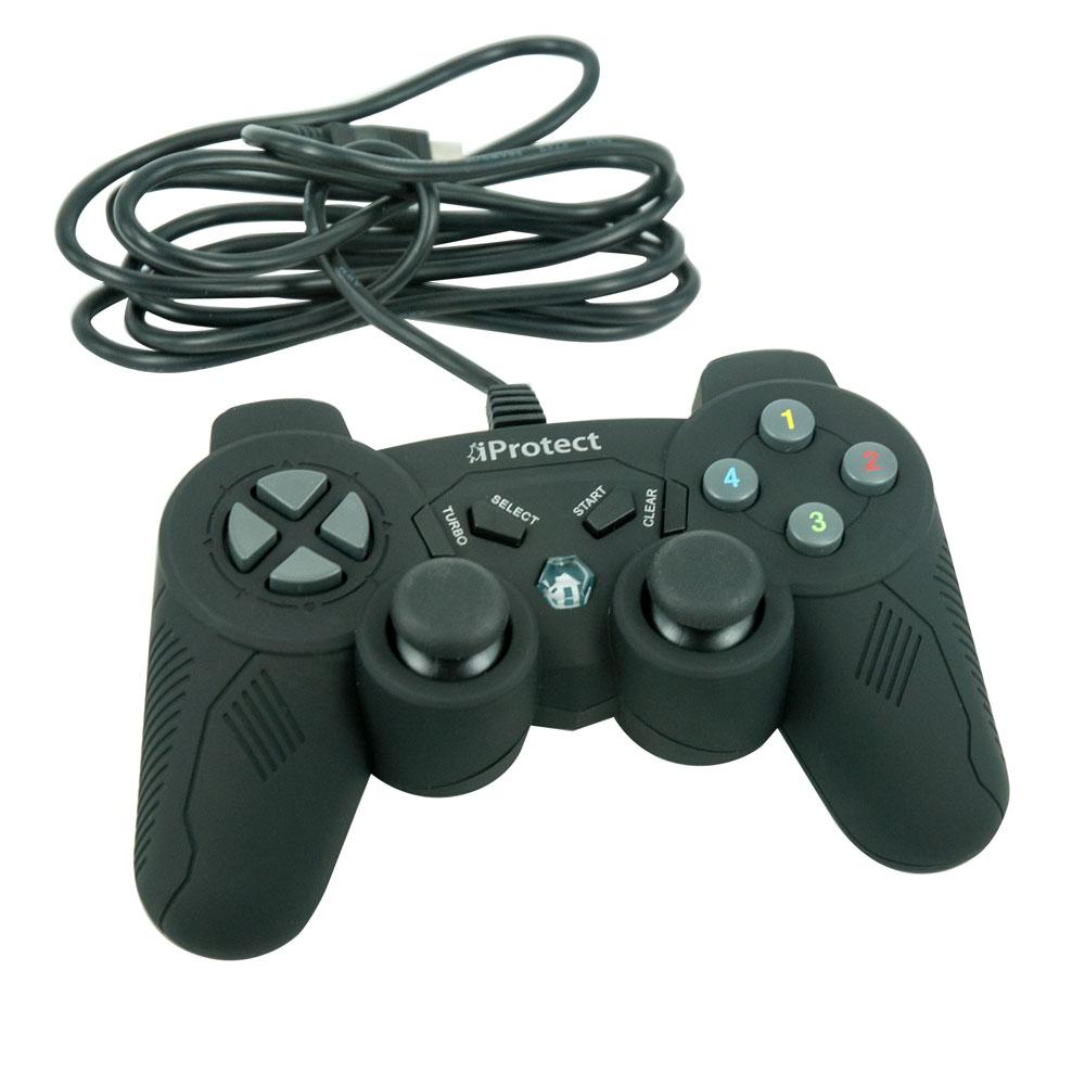 iProtect Controller PlayStation 3 SmoothTouch mit integriertem Kabel Schwarz