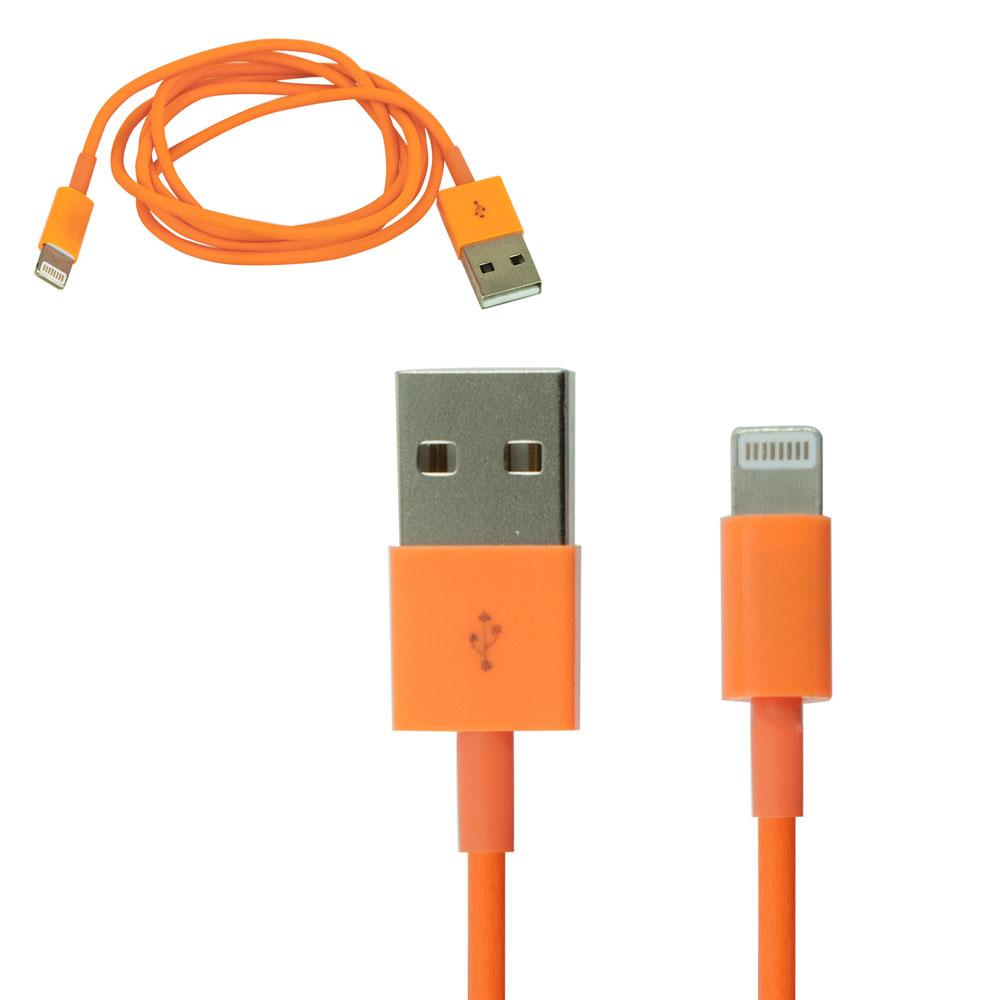 iProtect USB Datenkabel für Apple Produkte mit Lightning Anschluss - Orange