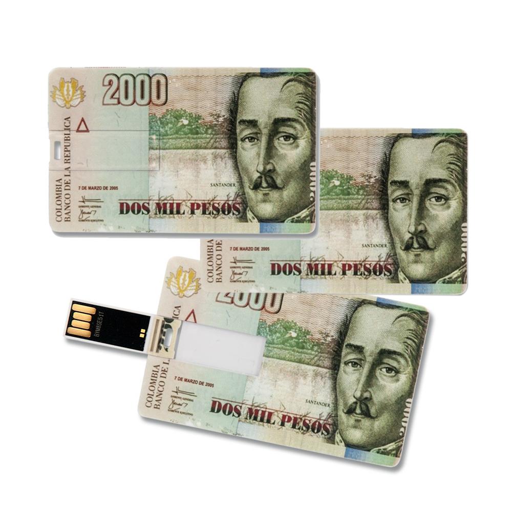 3x Speicherkarte 8GB Scheckkartenform 2000 Pesos USB Datenspeicher Gadget