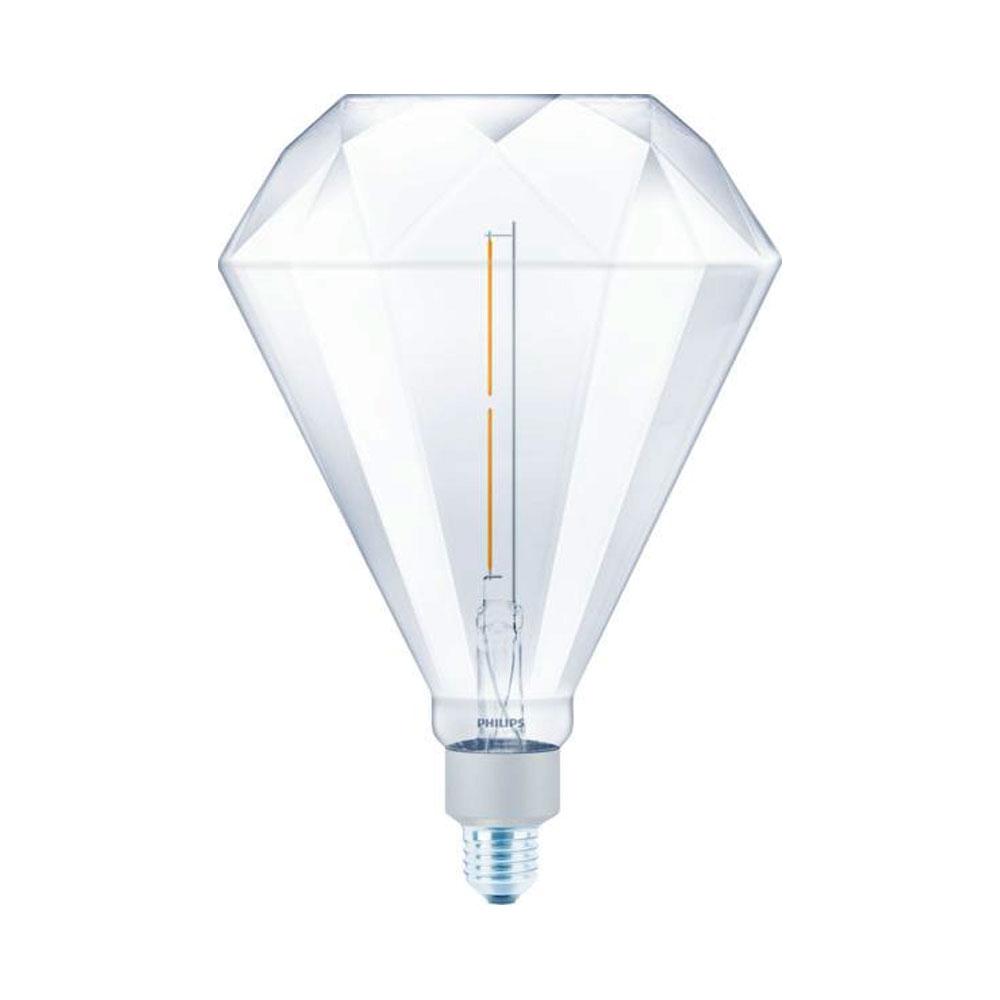 Philips Classic LEDbulb Giant Diamond 4W(35W) E27 830 400lm 3000K klar dimmbar